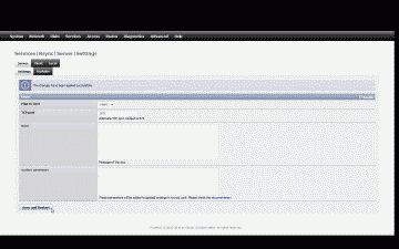 Screenshot of the FreeNAS rsync server setup page
