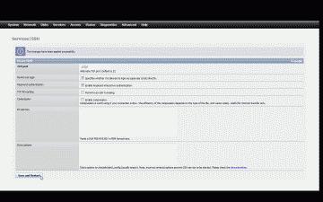 Screenshot of the FreeNAS SSH setup page