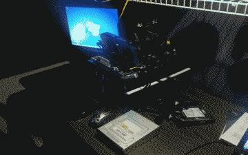 Screenshot of my Core i7 Sandy Bridge build outside of the computer case
