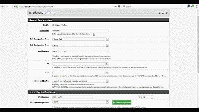 Screenshot showing the VLAN 50 interface being enabled in pfSense