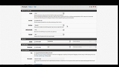 Screenshot showing the VLAN 10 interface being enabled and configured in pfSense