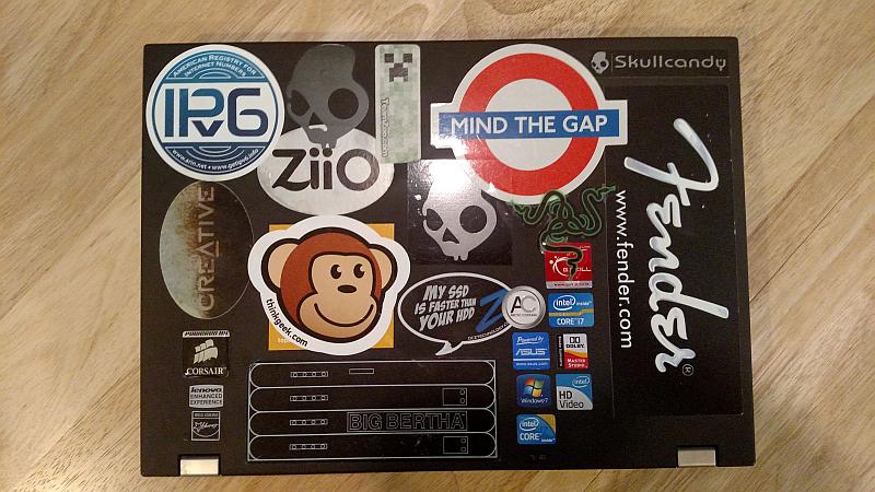 The good thing about redbubble stickers: they're easy to remove and adjust,