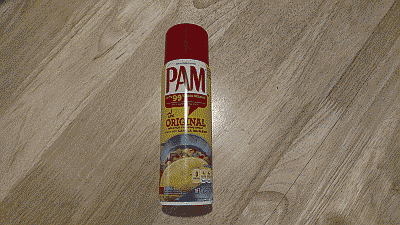 Screenshot showing a can of no-stick cooking spray