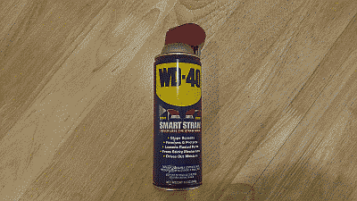 Screenshot showing a can of WD-40