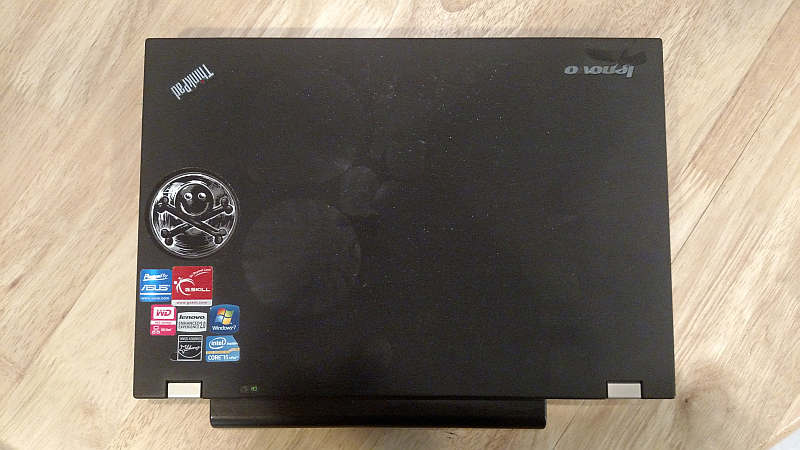 Screenshot showing a Lenovo laptop after stickers have been removed