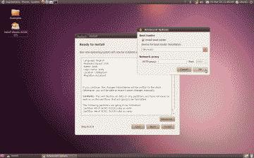 Screenshot of the Ubuntu bootloader install screen
