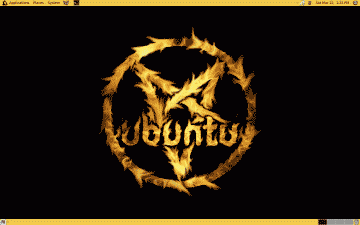 Screenshot of a Ubuntu Satanic Edition theme