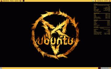Screenshot of Conky running the Ubuntu SE desktop theme