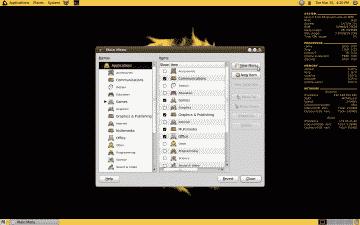 Screenshot of Ubuntu's Main Menu utility