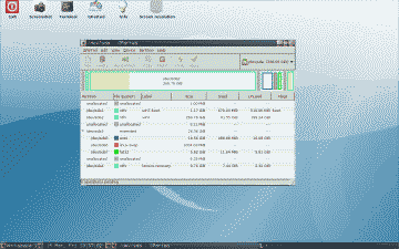 Screenshot of New Ubuntu Partitions with Device Names Assigned by GParted