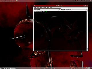 Screenshot of the Xfce-Terminal on Ubuntu Jaunty